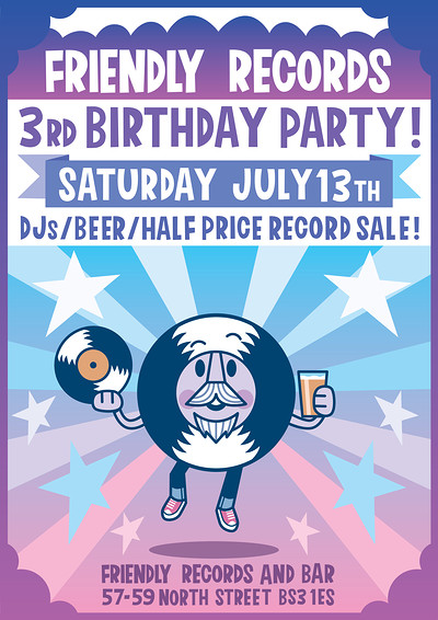 Friendly Records Shop turns 3! at Friendly Records Bar in Bristol