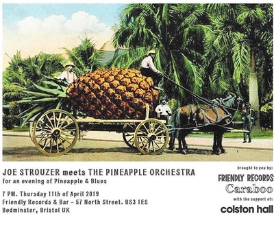 Joe Strouzer meets The Pineapple Orchestra  at Friendly Records Bar in Bristol