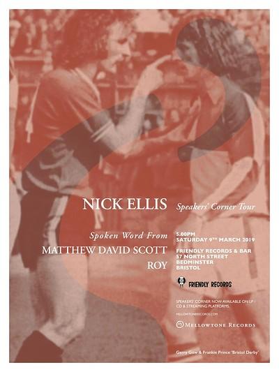 Nick Ellis (Live) + Matthew David Scott & Roy  at Friendly Records Bar in Bristol