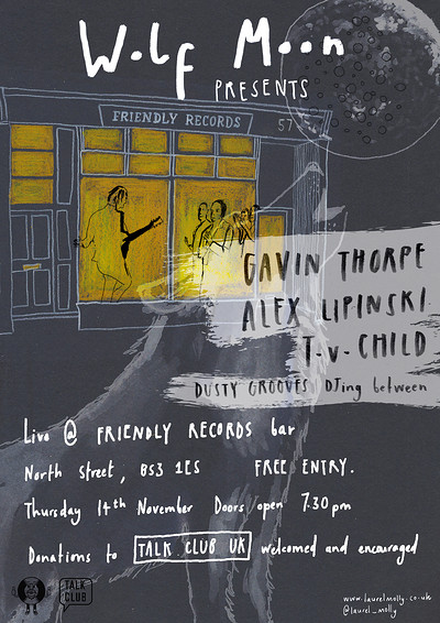 Wolfmoon Presents: song session for charity at Friendly Records Bar in Bristol