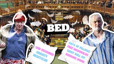 BED Mondays: Corbyn Vs Borris Pillow Fight! at Gravity Bristol in Bristol