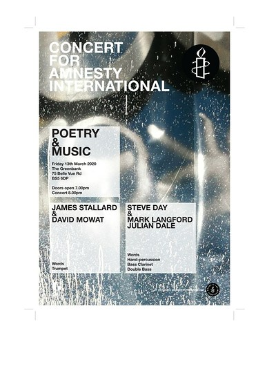 Amnesty - Poetry & Music at Greenbank Pub in Bristol