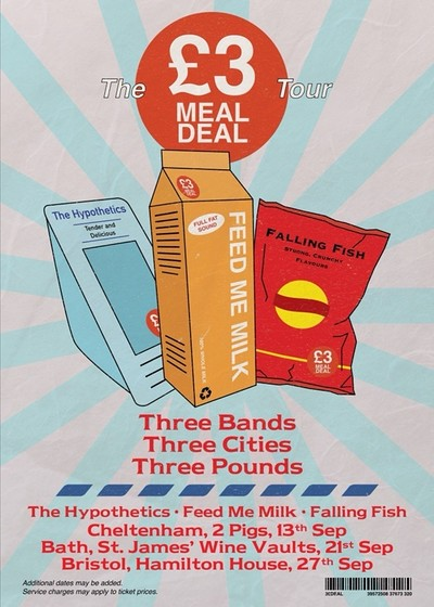 £3 MEAL DEAL TOUR GIG IN AID OF THE JULIAN TRUST at Hamilton House in Bristol