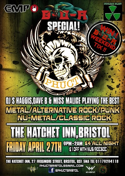 PHUCT - Bristol's Rock Metal Alternative! at Hatchet inn in Bristol