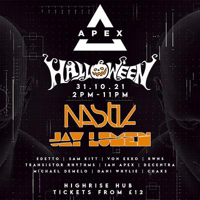 Apex Halloween: Nastia & Jay Lumen  at HighRise Hub in Bristol