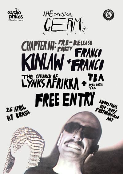 (Pre) Germ III: Kinlaw+Franco Franco, Lynks Afrika at Hy Brasil Music Club in Bristol