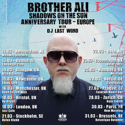 Brother Ali 'Shadows On The Sun Anniversary Tour at Hy Brasil Music Club in Bristol