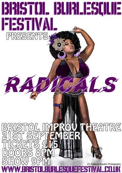 Bristol Burlesque Festival Presents: Radicals at Improv Theatre in Bristol