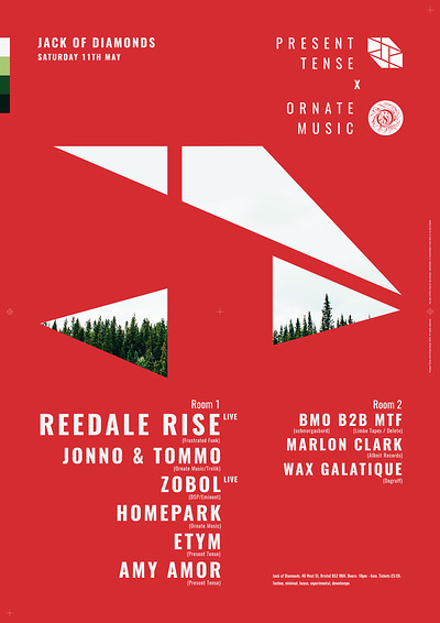 Present Tense x Ornate Music: Reedale Rise at Jack Of Diamonds in Bristol