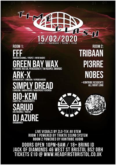 Trakta x Kontribe - Time Clash Pt 2 feat. FFF at Jack Of Diamonds in Bristol