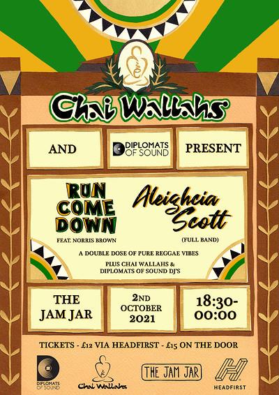 Chai Wallahs Present: Run Come Down & Aleighcia at Jam Jar in Bristol