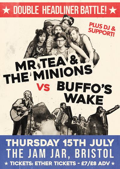 Mr Tea & the Minions VS Buffo's Wake - Battle! at Jam Jar in Bristol