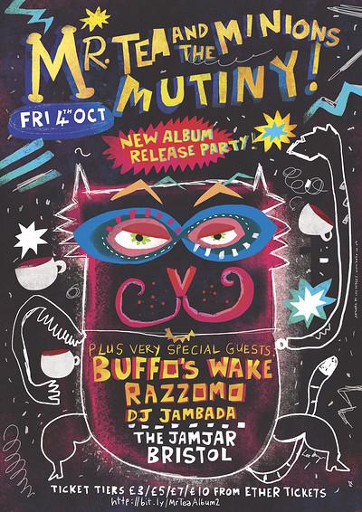 Mutiny Album Launch: Mr Tea & the Minions + more! at Jam Jar in Bristol