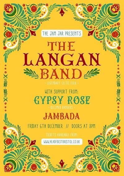 The Jam Jar Presents: The Langan Band at Jam Jar in Bristol