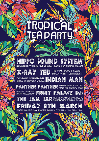 Tropical Tea Party at Jam Jar in Bristol