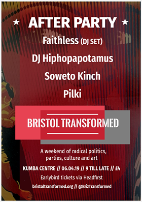 Bristol Transformed After-Party at Kuumba centre in Bristol