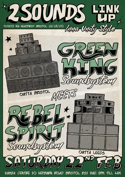 Green King meets Rebel Spirit at Kuumba Centre in Bristol