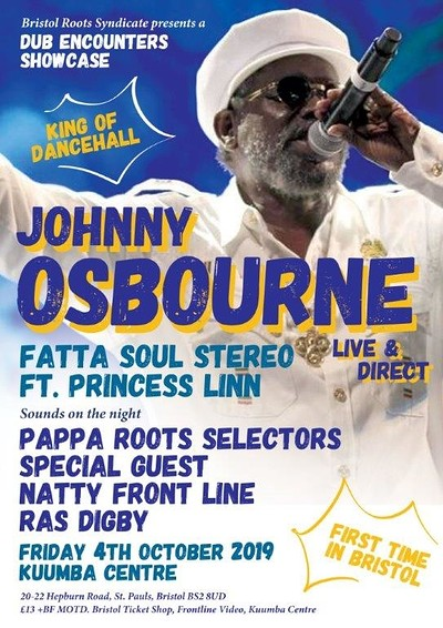Johnny Osbourne Live & Direct  at Kuumba Centre in Bristol