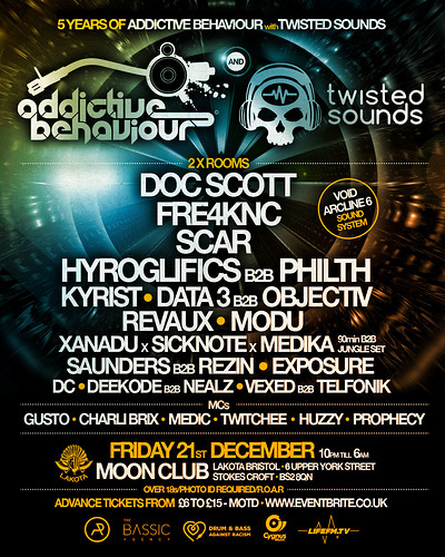 5 Years of Addictive Behaviour with Twisted Sounds at Lakota in Bristol