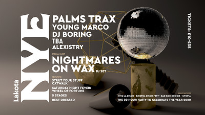Lakota NYE: Palms Trax | Nightmares On Wax & More at Lakota in Bristol