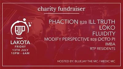 RTP Charity Fundraiser: Phaction, lll Truth, Fluid at Lakota in Bristol