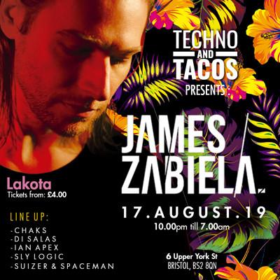 Techno & Tacos with James Zabiela at Lakota in Bristol