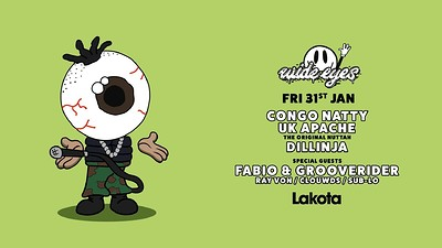 Wide Eyes: Congo Natty, Fabio & Grooverider, UK Ap at Lakota in Bristol