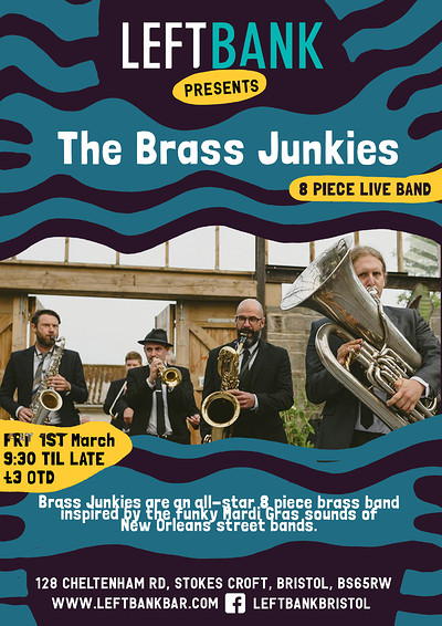Brass Junkies at LEFTBANK in Bristol