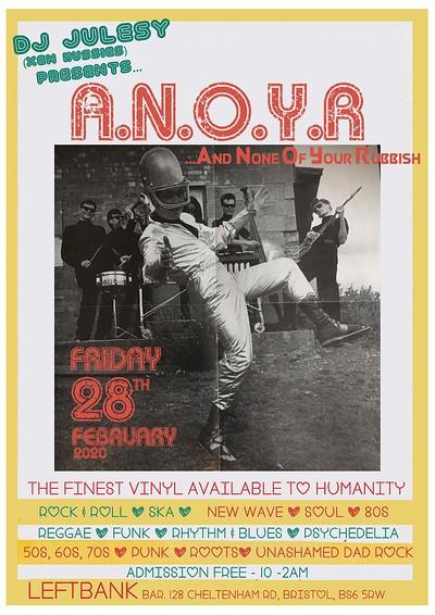 DJ A.N.O.Y.R at LEFTBANK in Bristol