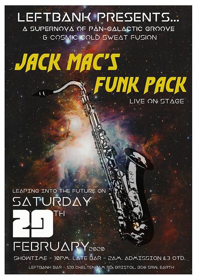 JACK MAC'S FUNK PACK at LEFTBANK in Bristol