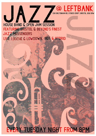 JAZZ SESSION with ADAM STOKES & GUESTS at LEFTBANK in Bristol