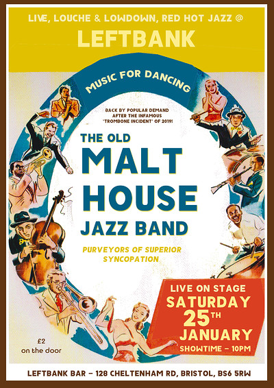 The Old Malthouse Jazz Band at LEFTBANK in Bristol