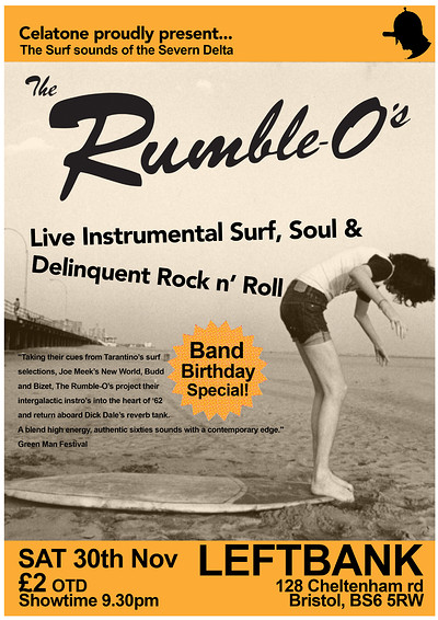 THE RUMBLE-O'S BIRTHDAY SURFNIGHT at LEFTBANK in Bristol