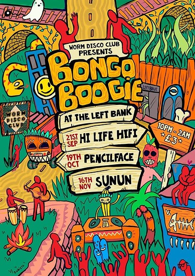 Worm Disco Club; Bongo Boogie 5 at LEFTBANK in Bristol