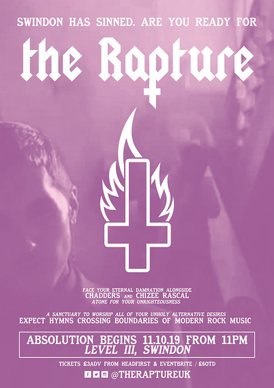✞ The Rapture - Swindon Launch Party ✞ at Level III, Swindon in Bristol