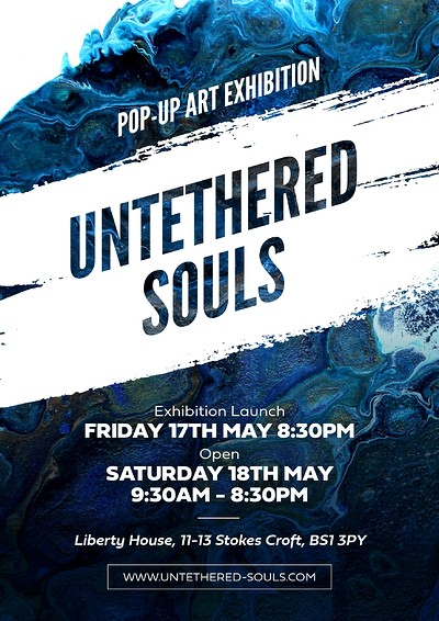 'Untethered Souls' - Exploring Freedom through art at Liberty House 11/13 Stokes Croft in Bristol