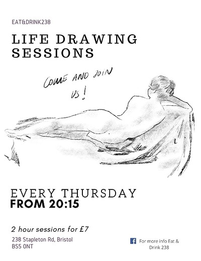 Life drawing session at Life drawing session in Bristol
