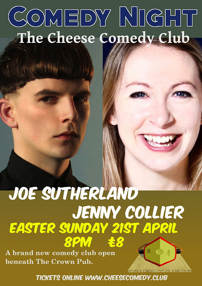 Live Comedy with Joe Sutherland and Jenny Collier at Live Comedy with Joe Sutherland and Jenny Collier in Bristol