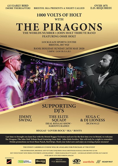 The Piragons - John Holt Tribute at Lockleaze Sports Centre in Bristol