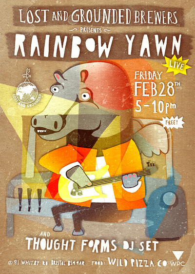 Rainbow Yawn Live + Thought Forms DJ Set at Lost and Grounded Brewers in Bristol