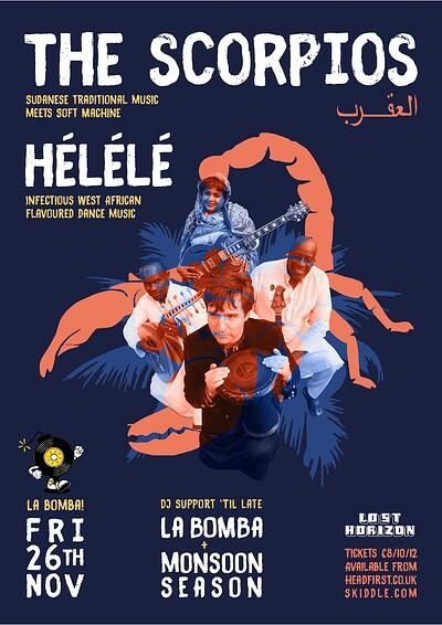 The Scorpios plus Helele at Lost Horizon in Bristol