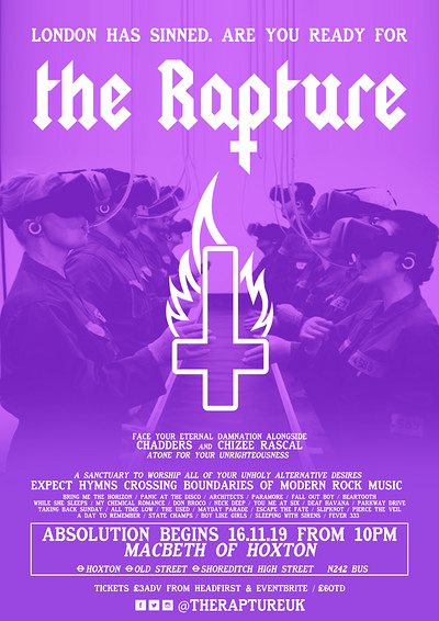 ✞ The Rapture - London Launch Party ✞ at Macbeth Of Hoxton in Bristol