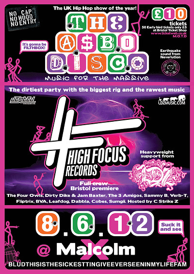 Asbo Disco: High Focus Records at Malcolm X in Bristol
