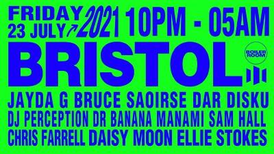 Boiler Room: Bristol - Jayda G + More at Motion in Bristol