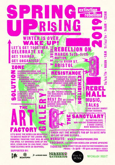 Extinction Rebellion Spring Uprising at Motion in Bristol