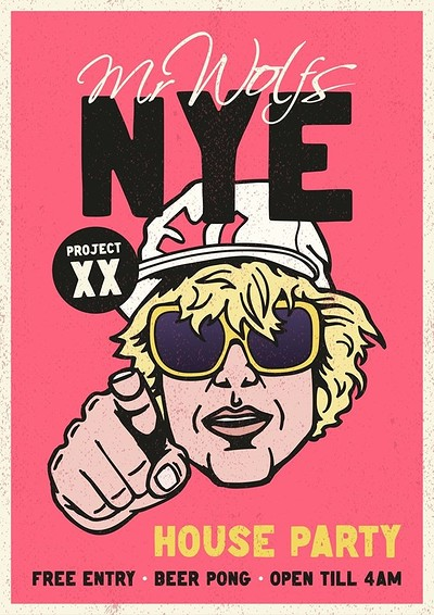 NYE • HOUSE PARTY  • FREE • at Mr Wolfs in Bristol