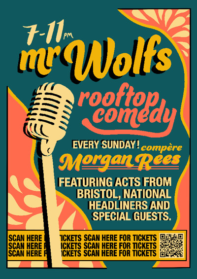 Rooftop Comedy  at Mr Wolfs in Bristol