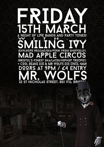 Smiling Ivy & Mad Apple Circus at Mr Wolfs in Bristol