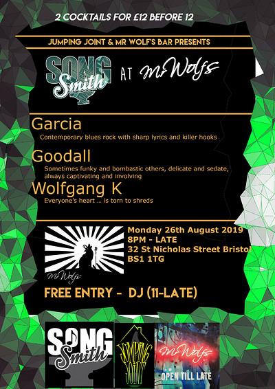 SongSmith @Mr Wolf's ft Garcia at Mr Wolfs in Bristol