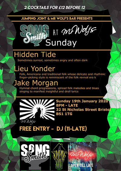 SongSmith Sunday @Mr Wolf's at Mr Wolfs in Bristol